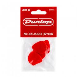 Red Nylon Jazz II Guitar Pick (6/pack)