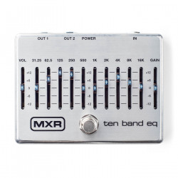 MXR Ten Band EQ Pedal - Silver
