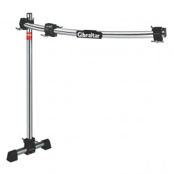 Road Series 36 Curved Bar Rack with Fix T Leg, RS Black Clamps
