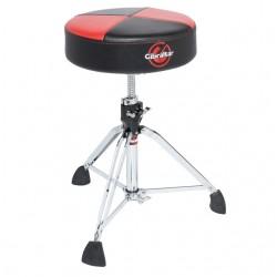 Round Quarter Panel Two Tone Drum Throne, Red/Black