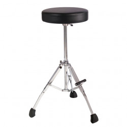 """Tall 27"""" Stool with Round Seat, Fold Up Tripod with Foot Rest"""