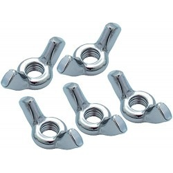 8mm Lt Duty Wing Nut 5/Pack
