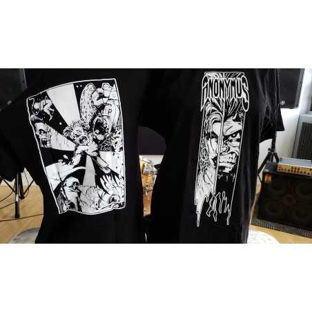 T-shirt- Anonymus - Stress noir et blanc