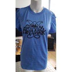 T-shirt Groovy Aadvark- bleu poudre