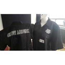 Chemises noir dickies -Groovy Aadvark