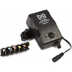 Hosa universal power adapter 12 vdc 1200 mA ACD-477