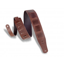 Levy's Tread Emboss Guitar Strap Brown