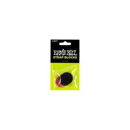 Ernie Ball Strap Block Paquet de 4 Noir/Rouge