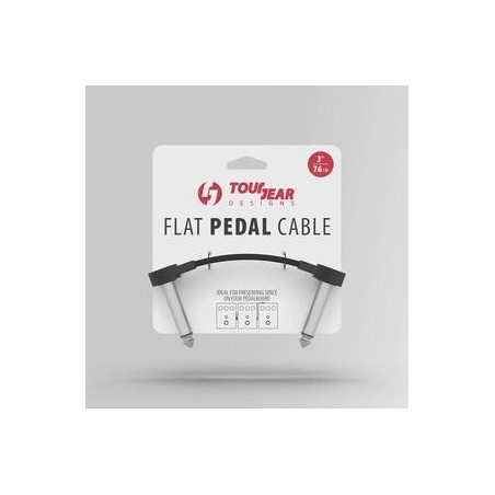 """3"""" Flat Pedal Cable TourGear Designs"""
