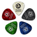 Planet Waves Assorted Pearl Celluloid Guitar Picks, 25 pack, Extra Heavy