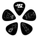 Planet Waves Joe Satriani Guitar Picks, Black, 10 Pack, Light